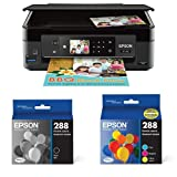 Epson Expression Home XP-440 Wireless Color Photo Printer with Scanner and Copier with Ultra Black Cartridge Ink and Ultra Color Combo Pack Cartridge Ink