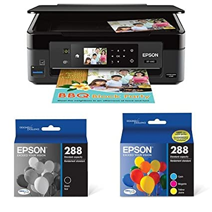 Epson Expression Home XP-440 Wireless Color Photo Printer with Scanner and  Copier with Ultra Black Cartridge Ink and Ultra Color Combo Pack Cartridge