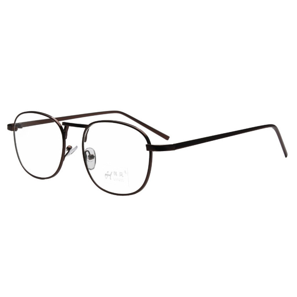 7d51c7ecaa Amazon.com  Simvey Unisex Classic Retro Vintage Small Square Clear Lens  Eyeglasses Metal Glasses Frame  Clothing