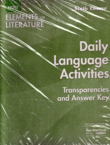 Elements of Literature Daily Language Activities Transparencies Sixth Course Grade 12