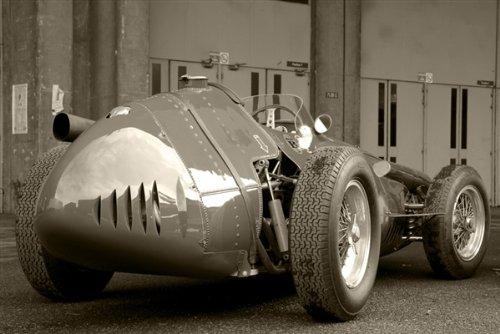 Maseratiヴィンテージf1 Grand PrixブラックandホワイトHDポスターRace Car印刷 48x32 Inches MAS-EC-VF1-BW4832 B00H9ZSW0E48x32 Inches