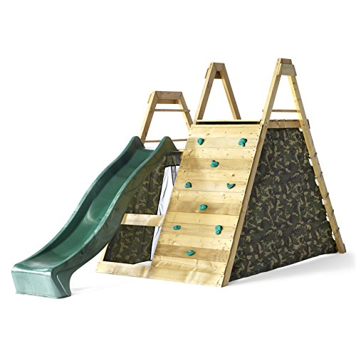 Plum® Climbing Pyramid Wooden Outdoor Play Centre. by Plum