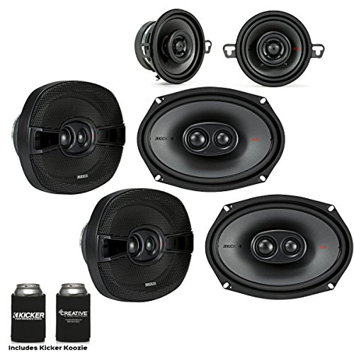 Kicker for Dodge Ram 2012+ Speaker Bundle - Two Pairs of 201