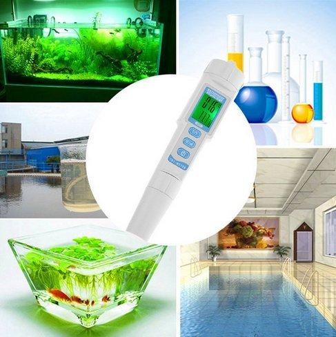 Digital Ph Pen Tester - QIYAT 3-in-1 PH Meter Monitor Type Multi-parameter Water Quality Ideal For Aquarium, Hydroponics, Spas, Swimming Pools (pH/ EC&TEM-983) by CPTCAM (Image #5)