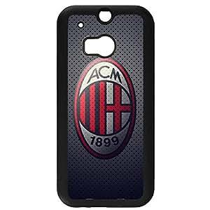 Black Printed Associazione Calcio Milan Logo Phone Case Black Hard Plastic Case Cover For Htc One M8