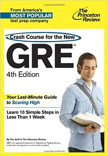 Princeton review gre essay template Crash Course for the New GRE th ...