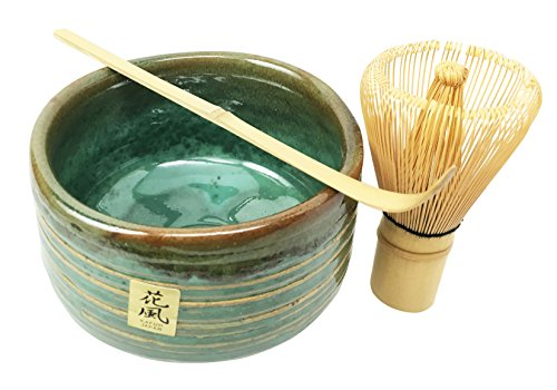 Tea Ceremony Matcha Green Tea Set With Bowl, Wooden Whisk And Scoop Aesthetic and Quality Put Together Into A Beautiful Gift Set Box For Weddings Gifts Home Decorative (Ceremonial Tea Bowl)