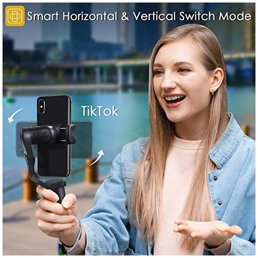Hohem 2019 Smartphone Gimbal Stabilizer 3-Axis Handheld Gimble with Face Object Auto Tracking for iPhone Xs Max Xr X 8… Fdeals fit