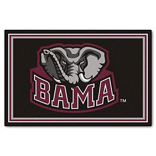 FANMATS NCAA University of Alabama Crimson Tide Nylon Face 5X8 Plush Rug by Fanmats