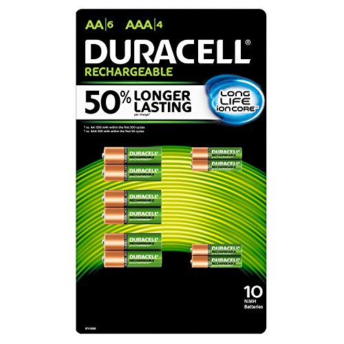 Duracell Rechargeable Combo AA6ct./AAA4ct. - 10pk