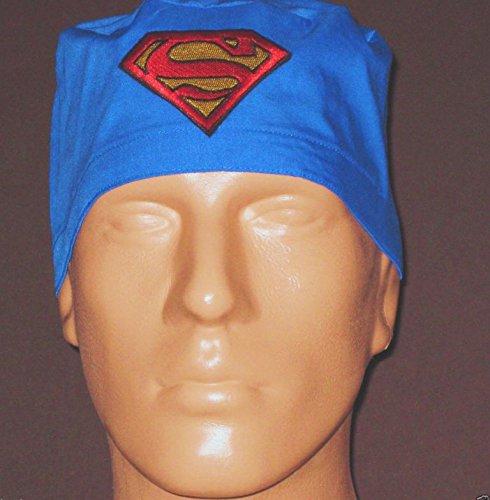 SUPERMAN SYMBOL ON SOLID BLUE Surgical Scrub -