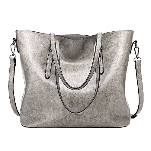 Tote Satchel Top Purse Body Shoulder Handbags Bag Zipper Messenger Handle Ladies Women Cross Bag Lightgrey qZWw8nU8X