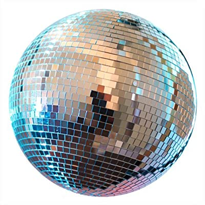 "NuLink 12"" Disco Light Mirror Ball with Hanging Ring by NuLink"