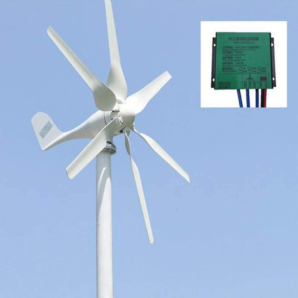 MEIGONGJU New Developed Wind Turbine 800w 12v 24v Generator with 6 Blades Free PWM Controller for Home Use