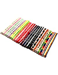 50 WWJD Bracelets - What Would Jesus Do Woven Wristbands Per Pack - Religious Christian WWJD Bracelet for fundraisers 23 Colors Perfect for Men Women Boys and Girls