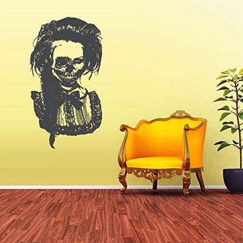 A decals cool Home Decor- Wall Vinyl Sticker Bedroom Decal Zomby Skull Girl Horror Girl Halloween
