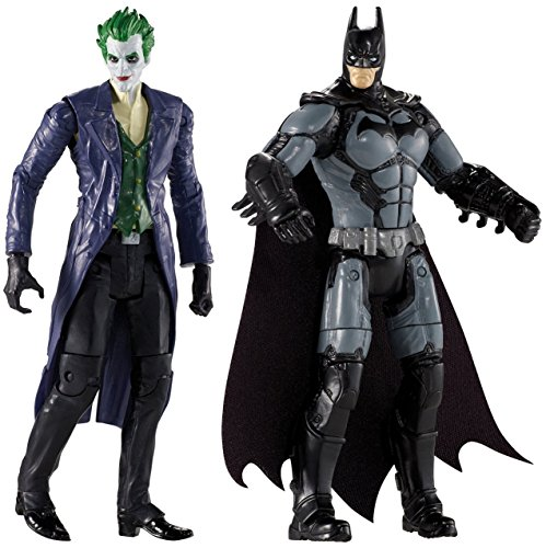 [Action Figures Arkham Origins The Joker & Batman Hero Set 4-Inch Toys] (Lego Marvel Superheroes All Spiderman Costumes)