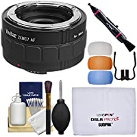 Vivitar Series 1 2x 7 Elements Teleconverter with Flash Diffusers + Cleaning Kit for Nikon Digital SLR Cameras & Lenses