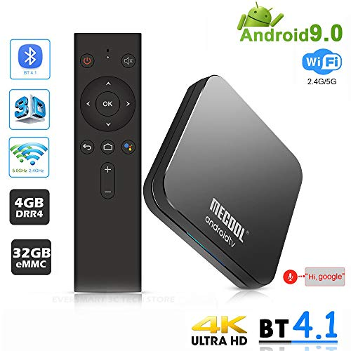 LQQZZZ Android 9.0 TV Box, 4K 4GB RAM 32GB ROM TV Box Amlogic S905X2 USB3.0 Dual Wifi 2.4G / 5G BT4.1 H.265 Ultra HD…