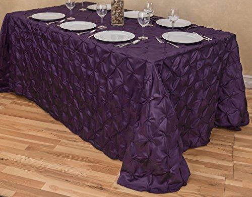 LinenTablecloth Rectangular Pinwheel Tablecloth, Eggplant, 9