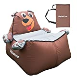 Inflatable Lounger, outdoor waterproof air sofa chair, for children/kids (bear - brown)