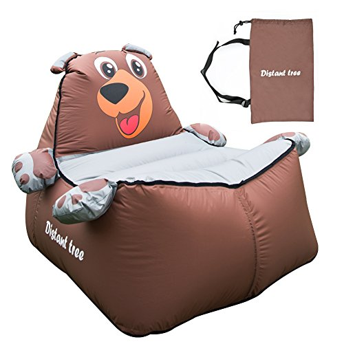 Inflatable Lounger, outdoor waterproof air sofa chair, for children/kids (bear - brown) by Children tree