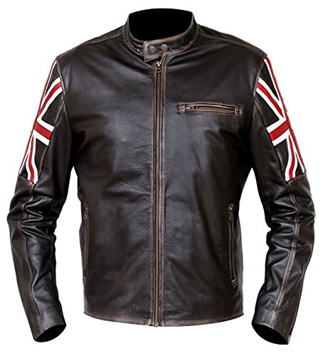 Leather Uk Uomo Piumino Red Smoke Jacket Giacca J Flag wR7TPA