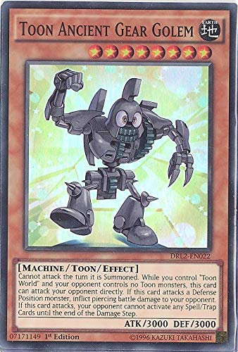 YU-GI-OH! - Toon Ancient Gear Golem (DRL2-EN022) - Dragons of Legend 2 - 1st Edition - Super Rare