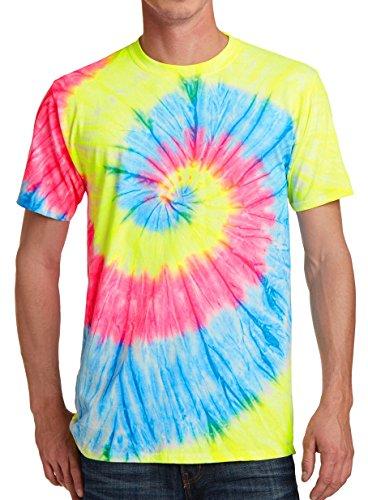 GoldenGateTees Colorful Shirts for Men Tie Dye Tshirt Color Tye Die Fun Party Tee Neon Rainbow - Dye T-shirt Tie Jerry