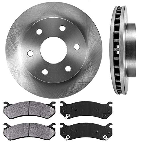 FRONT 305 mm Premium OE 6 Lug [2] Brake Disc Rotors + [4] Metallic Brake Pads (Astro Chevrolet Rotor)