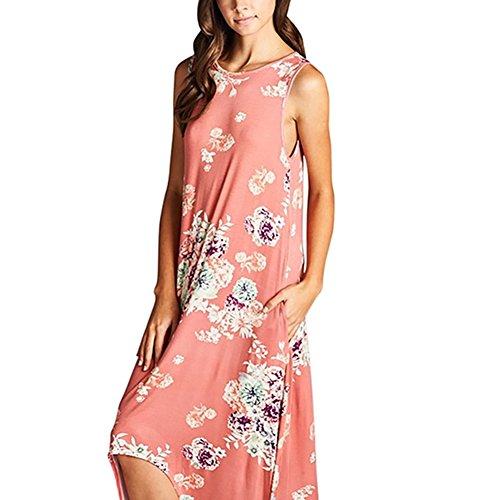 iShine - Vestido - Túnica - para mujer Rosa