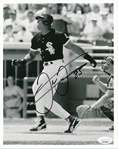 Frank Thomas Autographed Photo - HOF 8x10 B W 144633 - JSA Certified - Autographed MLB Photos