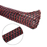 10ft - 1/2 inch split sleeving – Blackred – Alex Tech wire loom tubing