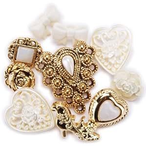Blumenthal Lansing Favorite Findings Buttons, Lace Treasures, 9/Pkg