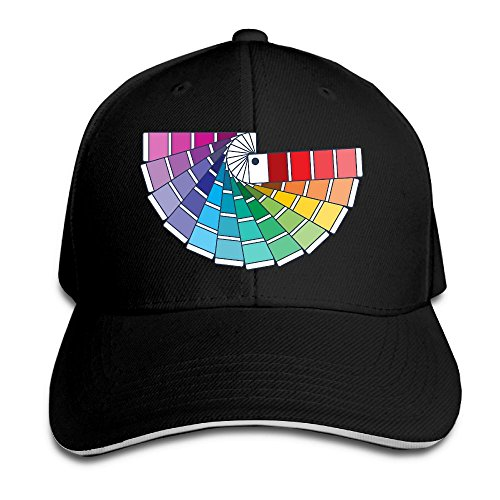 FOOOKL Colourful Rainbow Drawing Cap Unisex Low Profile Cotton Hat Baseball Caps - 8 Colors (Adult Black Apparel Tee John)