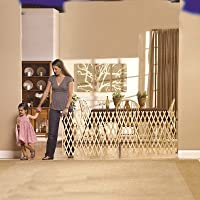 GMI Keepsafe - Puerta de expansión de madera de 274 cm, fabricada en Estados Unidos, se pliega a 65 cm