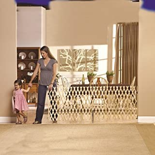 """product image for GMI Keepsafe Gate, Fits Openings 40""""- 108""""(W) and 32""""(H)-Made in USA! Top of Stairs Certified! Fits one car Garage!! Open Concepts! Decks! Collapses to 25.5""""-Smallest in The Industry!"""
