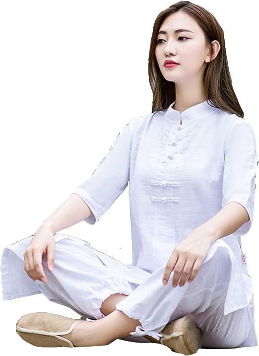 XGYUII Ropa de Uniforme de Tai Chi para Mujer Ropa de Yoga de ...
