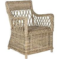 Safavieh Home Collection Hinaku Soft Grey Arm Chair