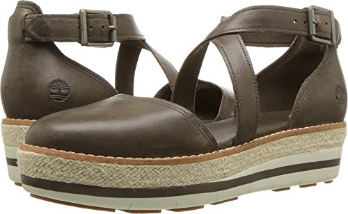 Timberland Women's Emerson Point Closed Toe Sandal Olive Full Grain 7.5 B US