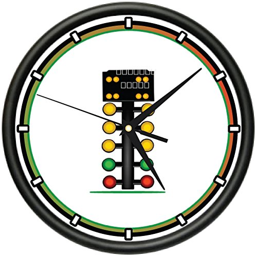 RACING CHRISTMAS TREE Wall Clock Xmas race drag racers for sale  Delivered anywhere in Canada