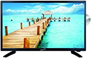 Supersonic 1080p LED Widescreen HDTV with HDMI Input, AC/DC Compatible for RVs and Built-in DVD Player, 24-Inc
