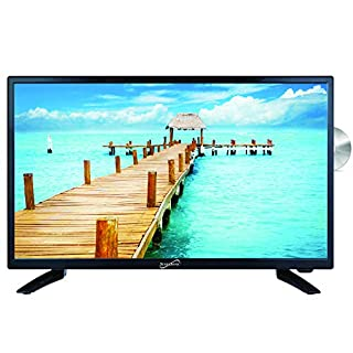 "SuperSonic SC-2412 LED Widescreen HDTV & Monitor 24"", Built-in DVD Player with HDMI, USB, SD & AC/DC Input: DVD/CD/CDR High Resolution and Digital Noise Reduction"
