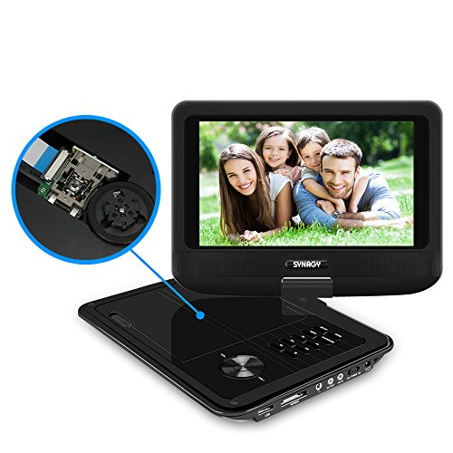 "Portable DVD Player for Car, SYNAGY 9"" Mobile DVD Player wit"