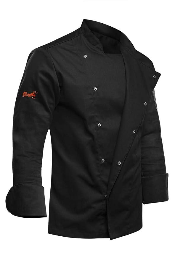 strongAnt® - Chaqueta de Chef/Cocinero Manga Larga Negro ...
