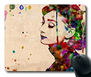 Audrey Hepburn Mouse Pad/Mouse Mat Rectangle by ieasycenter