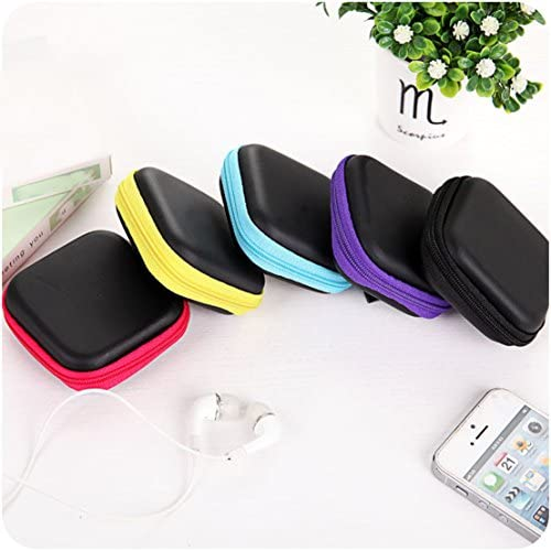 Ayiqi Cute Headphone Case Bag Carry Earbuds Case Earphone Pouch Hard Protective Carrying Case Travel Portable Storage Bag for Headphones Headset MP3 Colour 4