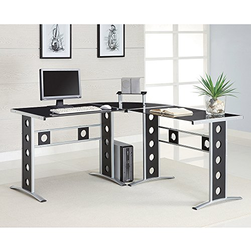 New PC Computer Desk Workstation Furniture L Shape Table Home Laptop Corner Office (L x W x H): 59.00 x 23.50 x 29.50 Inches CCCD