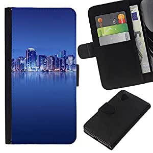Estuche Cubierta Shell Smartphone estuche protector duro para el teléfono móvil Caso LG Google Nexus 5 D820 D821 / CECELL Phone case / / The Blue City /