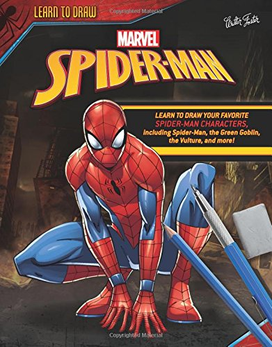 Orange Coloured Costumes - Learn to Draw Marvel Spider-Man: Learn to draw your favorite Spider-Man characters,